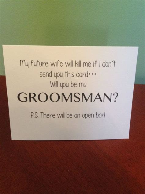 Funny Will You Be My Groomsman Card   Wedding, Boys and Deer