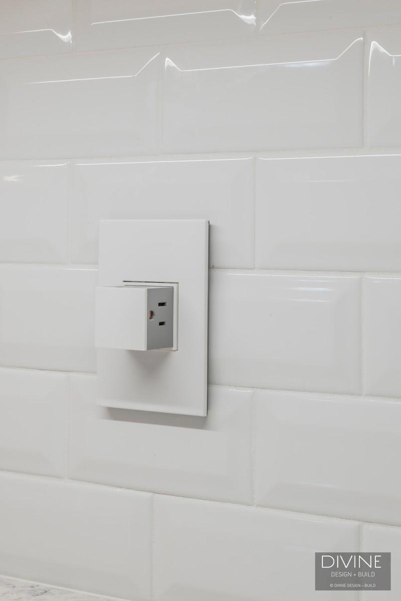 Beautiful Grey Modern Kitchen Backsplash pictures