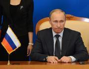 Il presidente della Russia Vladimir Putin, a Pechino
