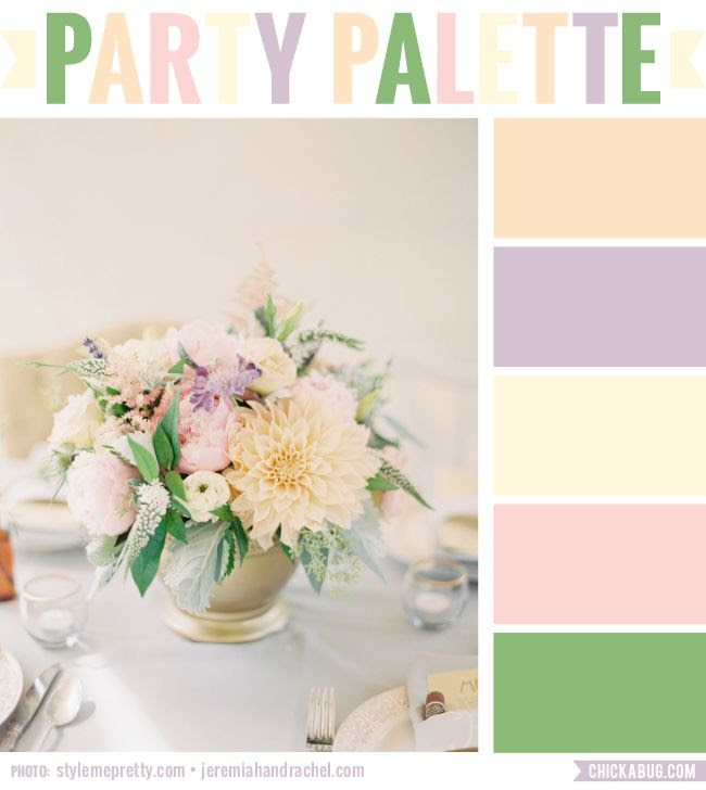 Party Palette: Soft florals | Chickabug