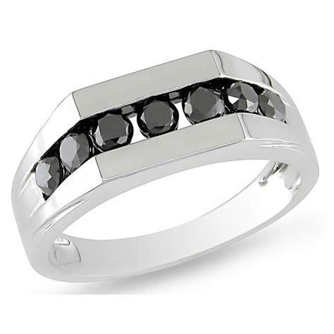 Mens White Gold Black Diamond Wedding Bands   Wedding and