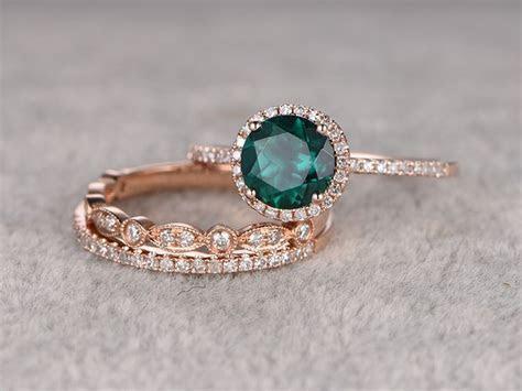 25  best Emerald Wedding Bands trending ideas on Pinterest