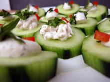 aperitif concombre tartinade vegan vegetalien