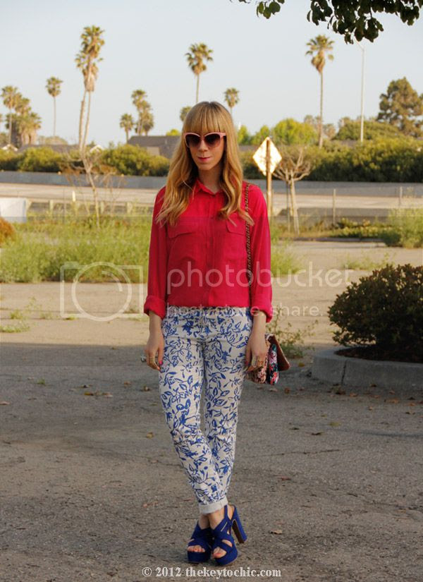 Equipment blouse, dvf loves Current/Elliott jeans, Mossimo Petene heels, Los Angeles street style, California fashion blogger