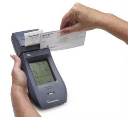 The Mobilescape 5000 wireless credit card and check terminal