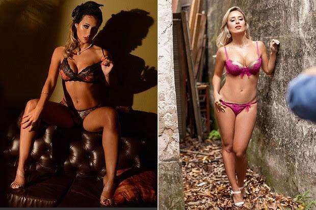 Letícia Santiago posa para o Paparazzo em 2014 e em 2016 (Foto: Luciana Tancredo / Cia da Foto | Anderson Barros / Paparazzo)