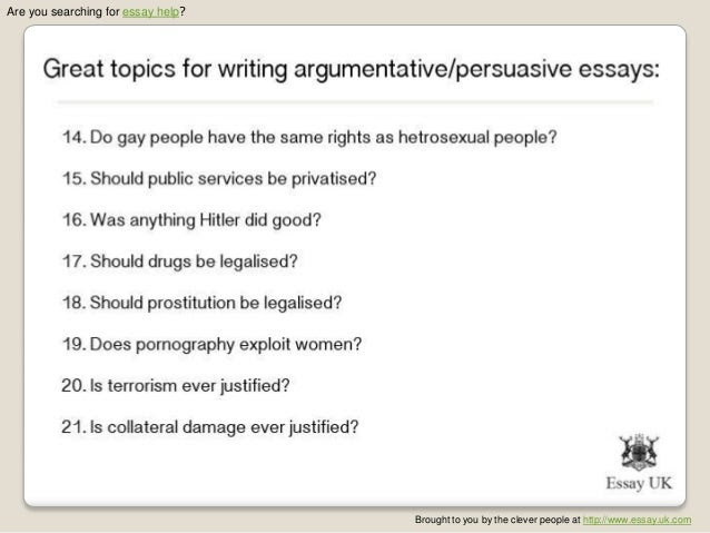 how to write a good persuasive essay verse