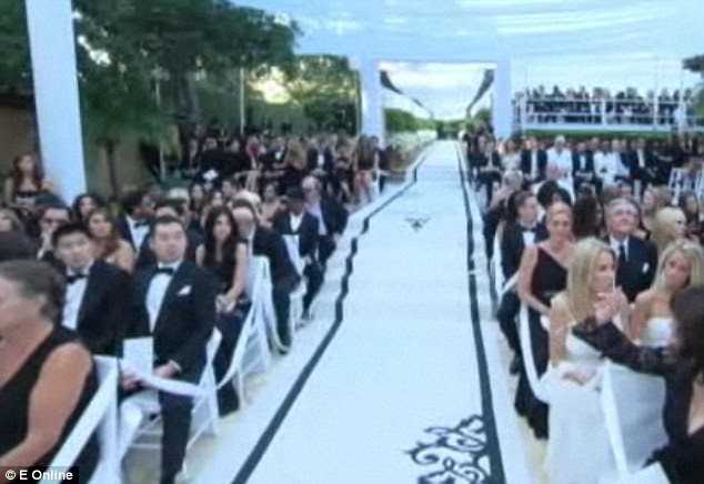 Monochrome heaven Kim emplyed a black and white dress code and decorations
