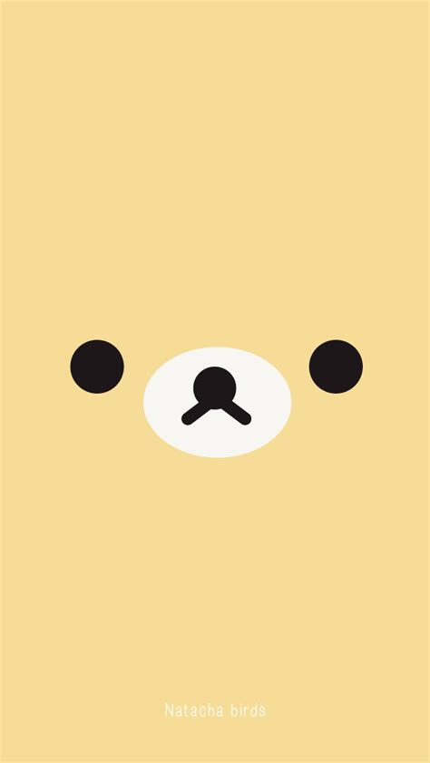 yellow bear face iphone wallpaper phone background