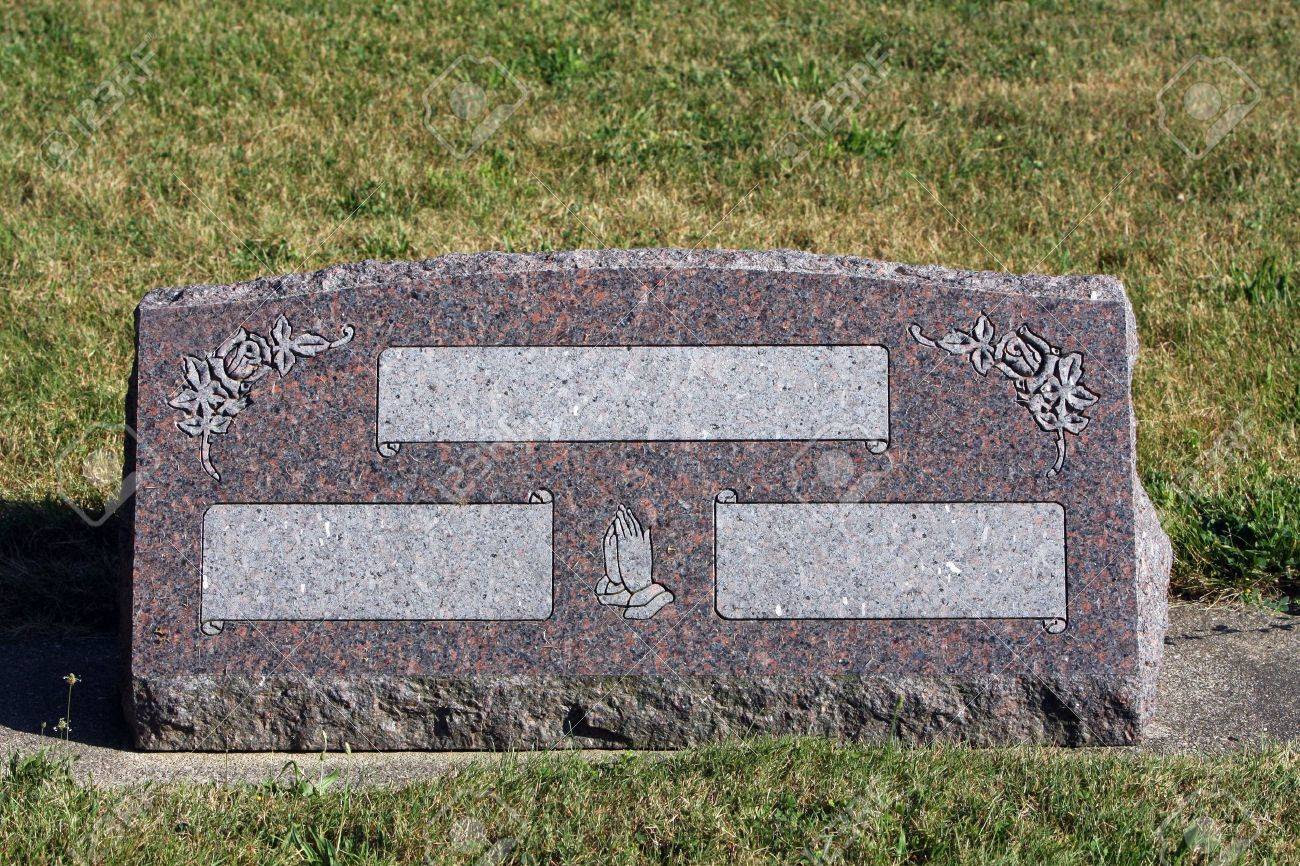 Blank Tombstone Stock Photo, Picture And Royalty Free Image. Image ...