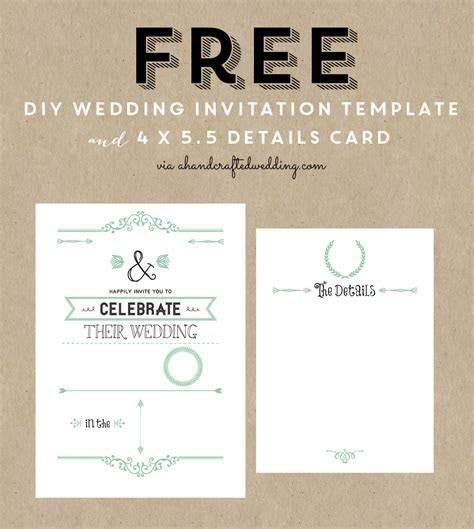 FREE Printable Wedding Invitation Template   ** All Things