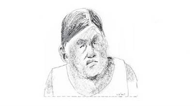 Milagro Sala, dirigente piquetera de Jujuy. (Sábat)  Milagro Sala dirigente piquetera de Jujuy dibujo de hermenegildo sabat