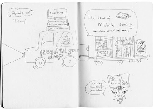 inspied doodles : library01