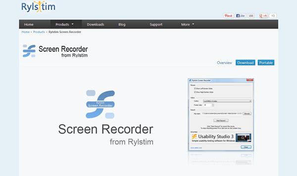 Rylstim Screen Recorder 8 Aplicaciones gratis para grabar la pantalla del ordenador