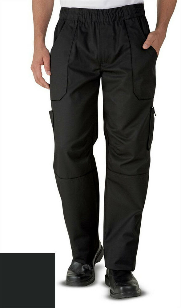 uncommon threads style 4102 grunge cargo chef pants black