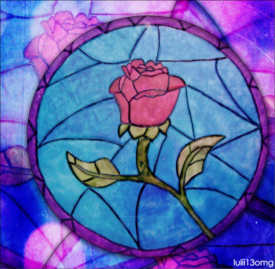 Beauty And The Beast Stained Glass Rose Images & Pictures - Becuo