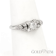 Vintage Platinum Engagement Ring (Size 5 1/2)   The Gold ATM