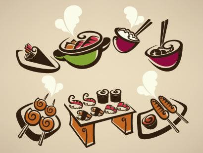 料理鍋寿司ご飯焼鳥のイラストaieps ベクタークラブ