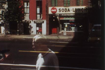 """An image from Ernie Gehr's """"Still"""" (1969-71)."""