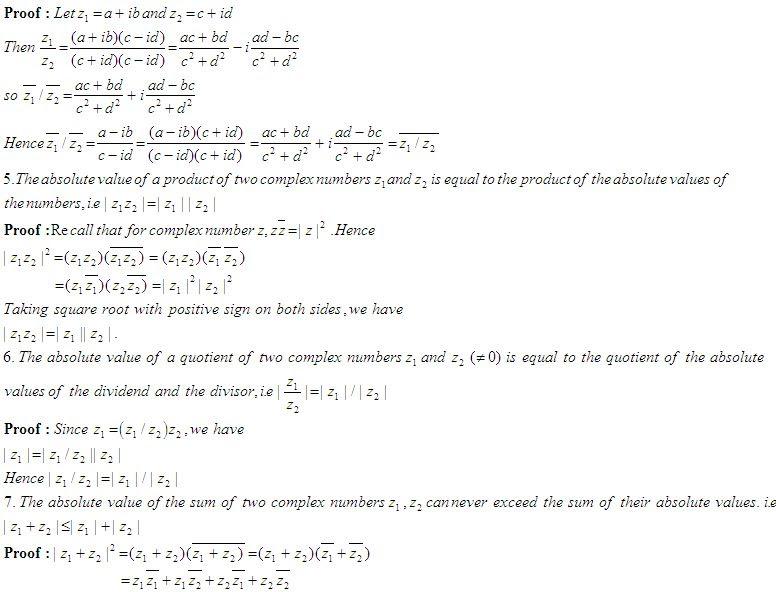Some Properties of Complex Numbers - High School ...