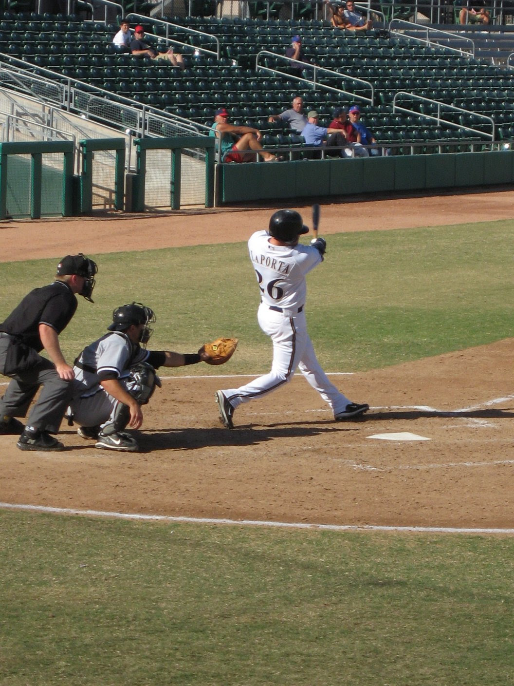 Matt Laporta pops a home run for the Mesa Solar Sox - Arizona Fall League - 11/12/2007- soul-amp.com