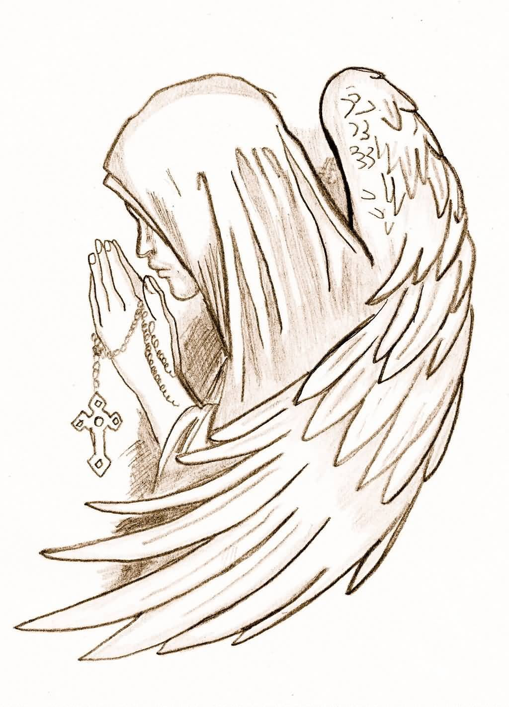 Angel Tattoo Drawing At Getdrawingscom Free For Personal Use