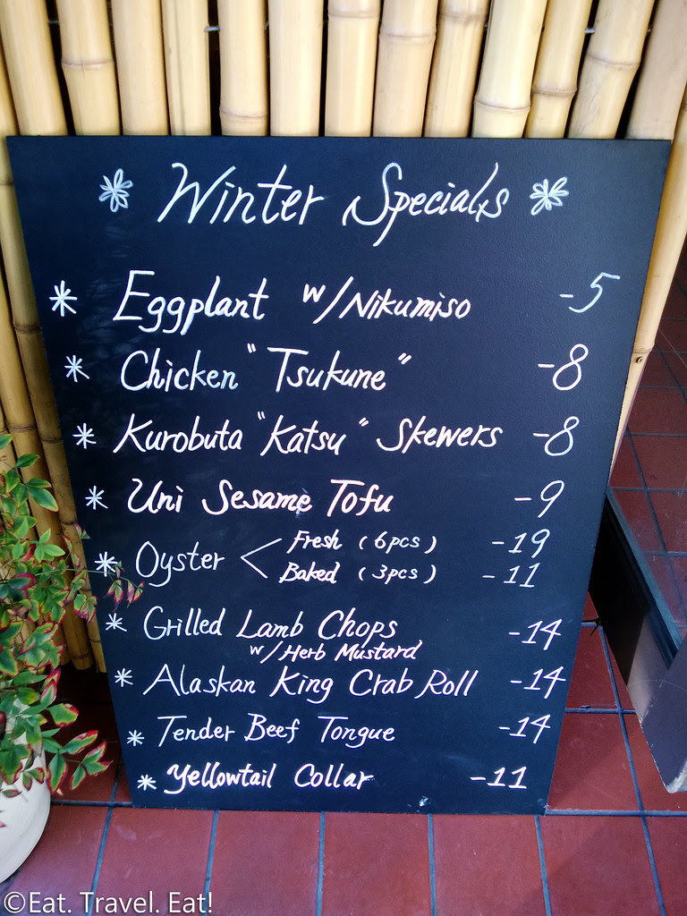 Osawa- Pasadena, CA: Winter Specials