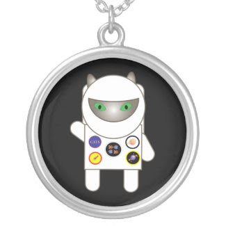 Astronaut Kitty Necklace necklace