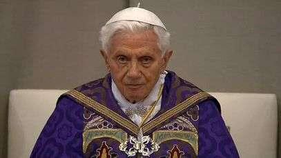 Papa faz sua última missa da Quarta-feira de Cinzas