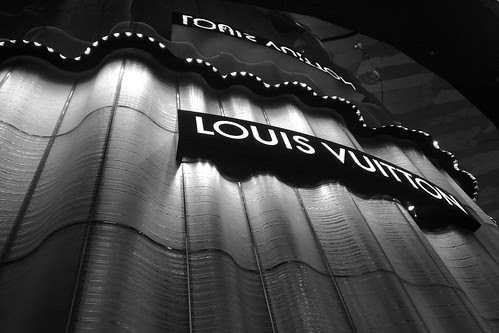 The luxurious LV shop at Ion