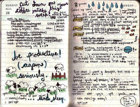 Some cute daily planner ideas! | Moleskines | Pinterest | Planner ...