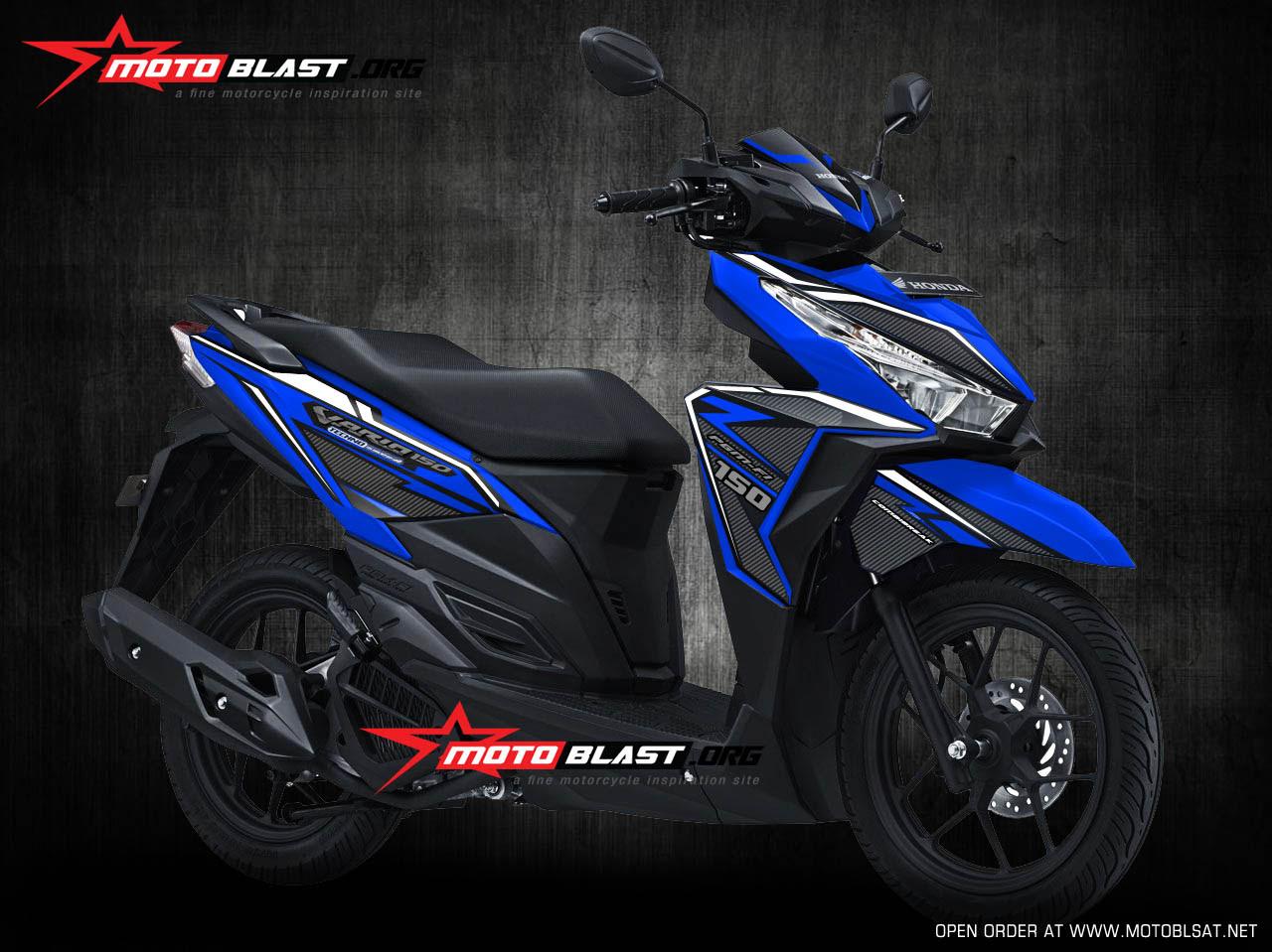 Modifikasi Vario Warna Biru Galeri Motor Vario