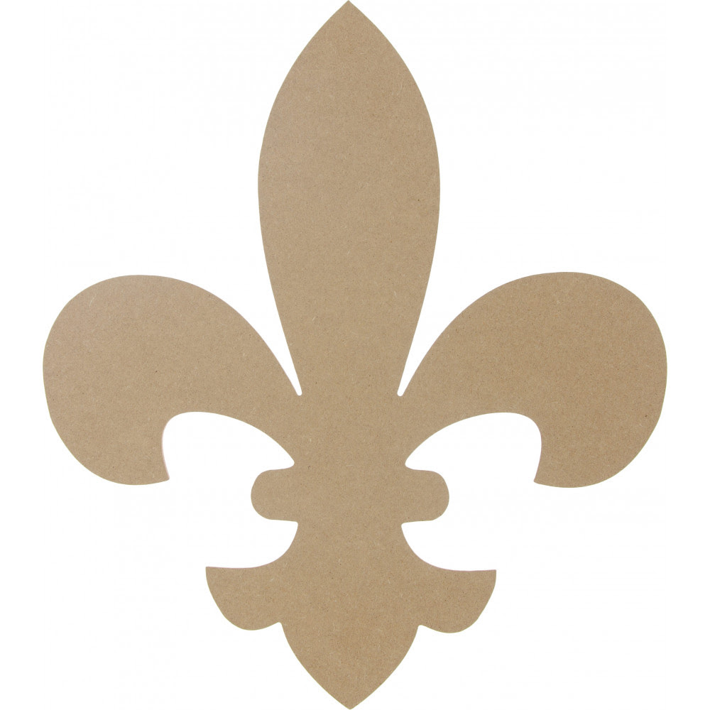 "16"" Wooden Fleur De Lis Decoration: Natural [AB2231 ..."