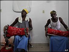 Seguidores de la Santería en Santiago, Cuba