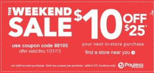payless printable coupon