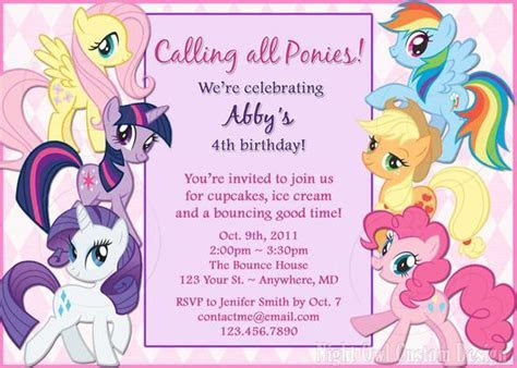 Items similar to My Little Pony birthday invitation   DIY