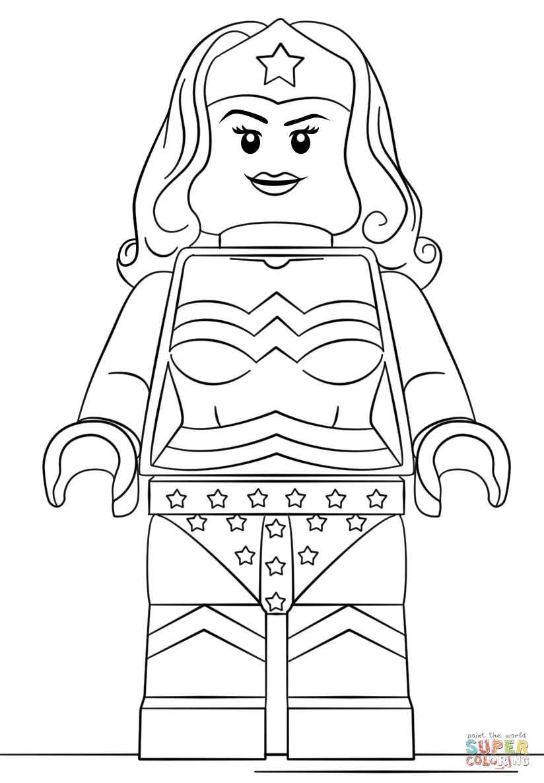 Dibujos Para Colorear Wonder Woman Mujer Maravilla 54 Auto