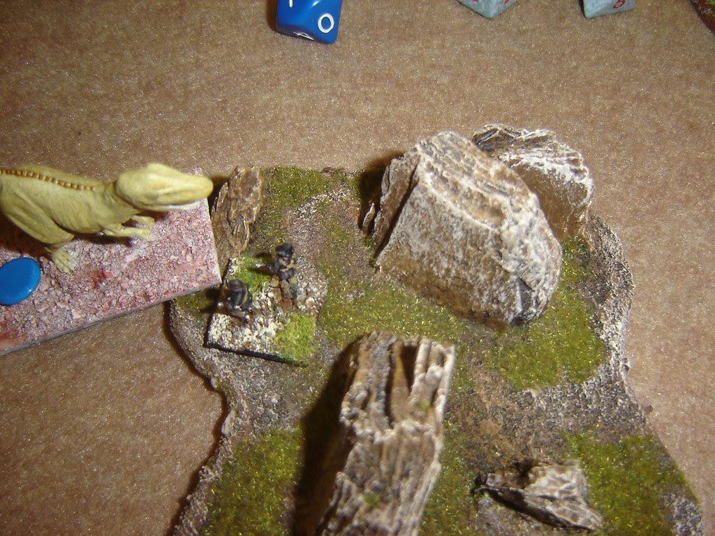 Tyrannosaur attacks Porter, knocking him unconscious