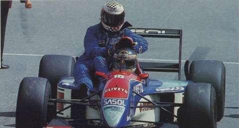 GP da Alemanha de 1993: o belga Thierry Boutsen e o finlandês Jyrki Juhani Järvilehto