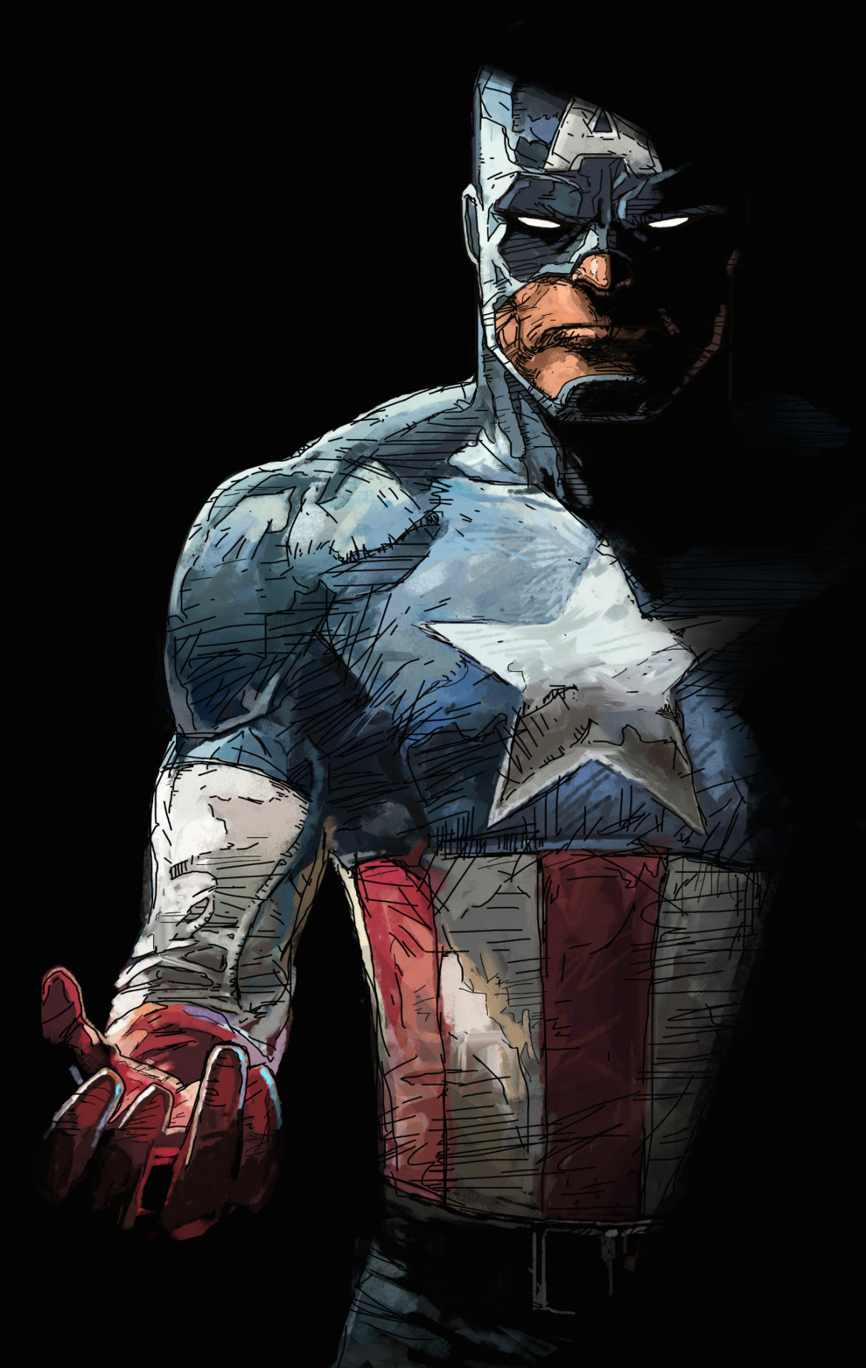 Captain America by Dave Seguin