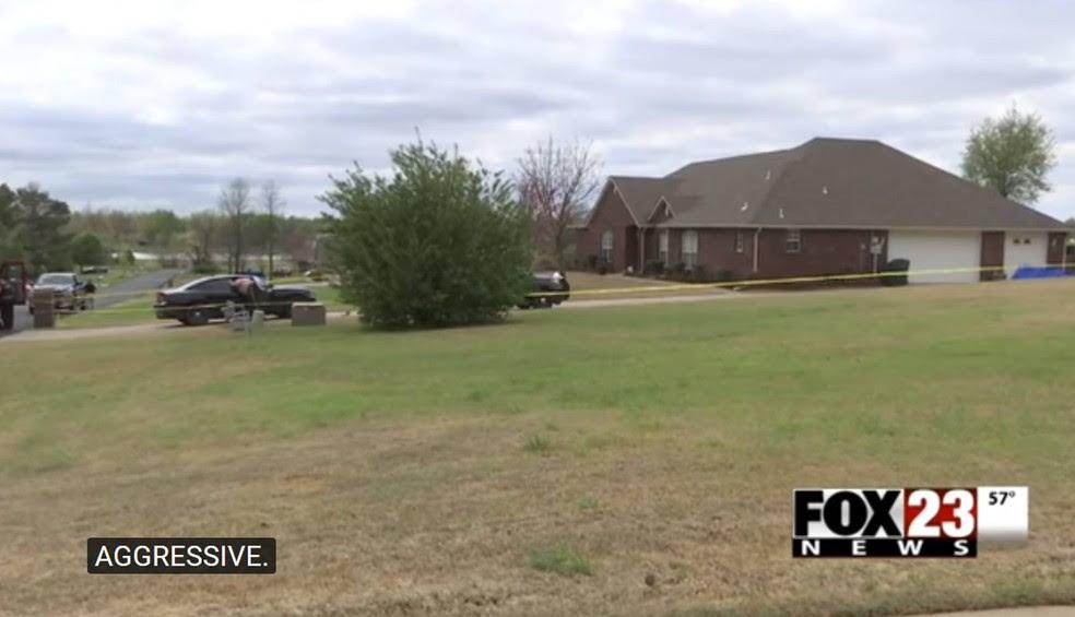 Tiroteio ocorreu em Broken Arrow, no estado de Oklahoma (EUA) (Foto: Reprodução/YouTube/FOX23 News Tulsa)