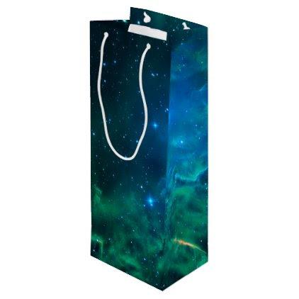 Flaming Star Nebula Wine Gift Bag