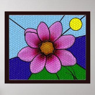 Flower Mosaic Poster print