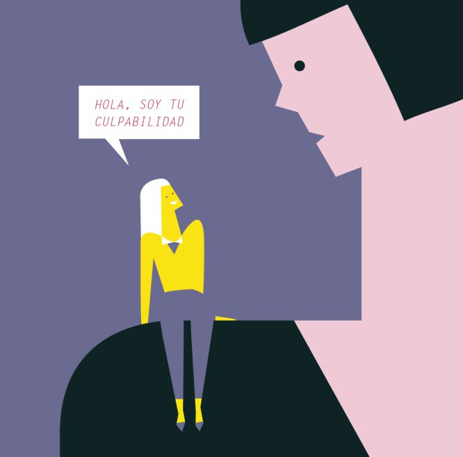 Ilustración de Hardcore Maternity, web creada por Marga Castaño y Esther de la Rosa.