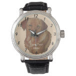 golden labrador dog portrait realist art watches