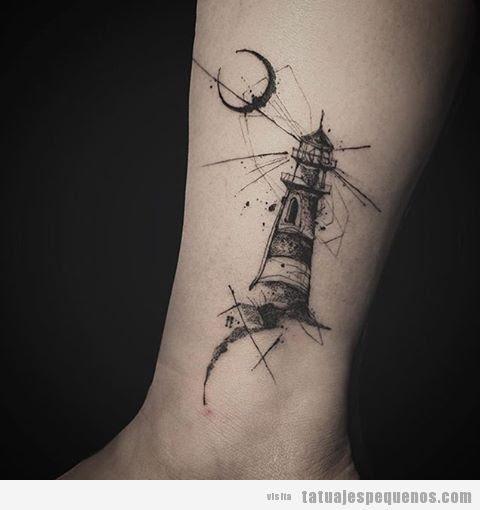 Tatuaje Pequeño Artístico Y Misterioso Para Hombre Y Mujer Un Faro