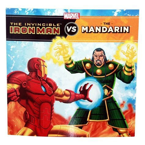 Marvel Superhero Iron Man Defeat Villains Story Book, Kids