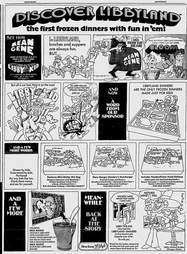 Libbyland Newspaper Ad - 1971