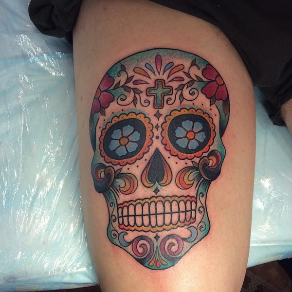 Sugar Skull Girl Tattoo Meaning Pictures To Pin On Pinterest
