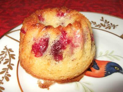 Kouglof-muffin aux griottes+